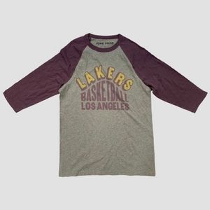 Lakers baseball 3/4 tee nwot junk food